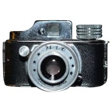 Old Miniature Camera HIT Working W/ Original leather Case Sweet for Display!
