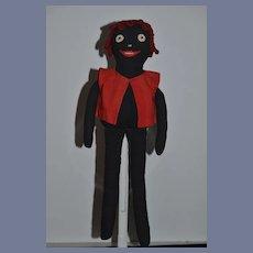 Old Black Doll Cloth Doll Rag Doll Unusual Folk Art