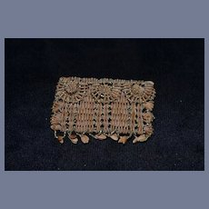 Old Doll Purse Seed Beaded Miniature for French Fashion Fancy