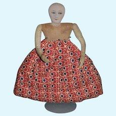 Old Doll Cloth Doll Tea Caddy Unusual Teacaddy Cover