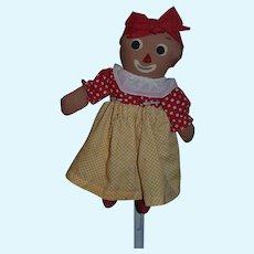 Vintage Doll Cloth Doll Rag Doll Belindy Raggedy Ann & Andy