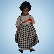Vintage Doll Black Artist Doll Adorable Signed Clarmaid