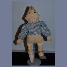 Old Doll Cloth Doll Rag Doll Unusual  Button Eyes Unusual