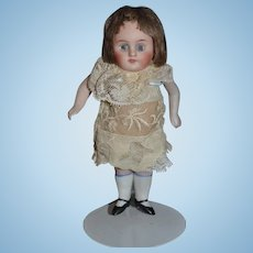 Antique Doll Miniature All Bisque Glass Eyes Dollhouse Wonderful