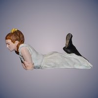 Vintage Doll Artist Doll Cecil Boyd Sculpture Miniature Dollhouse Girl Laying 1979 OOAK
