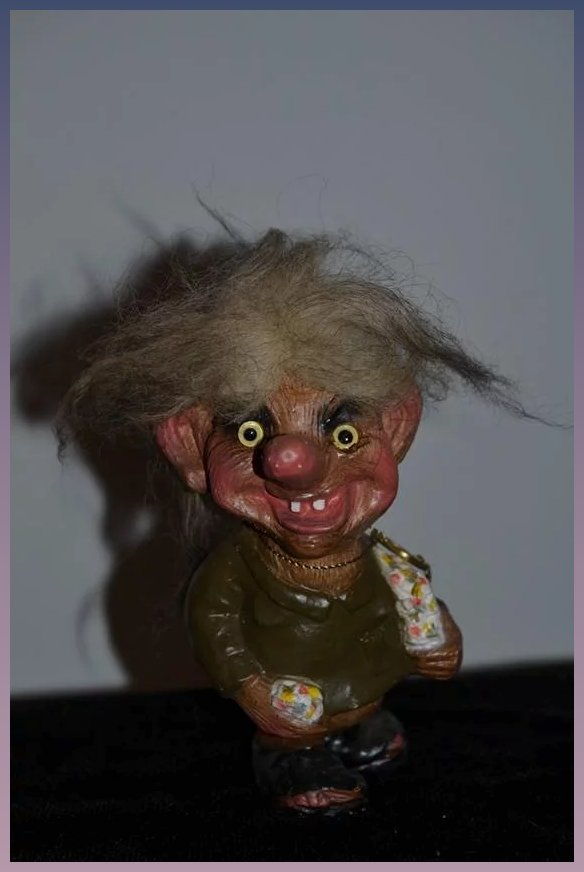 Vintage Nyform Troll Art No 703 W Tag Oldeclectics