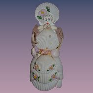Vintage Doll Shell Doll Unusual Character W/ Painted Features