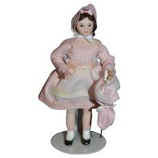 Doll Miniature Dollhouse Doll W/ Parasol Artist Doll