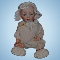 17 inch Antique Doll JDK Kestner Bisque Baby Doll Character Wobble Tongue Adorable 226 Character