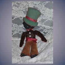 Wonderful Old Cloth Black Doll Rag Doll Felt Stockinette Wonderful Clothes