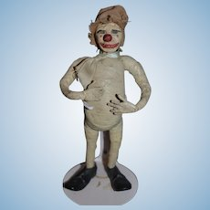 Old Unusual Character Doll Clown Doll Cloth