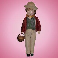 Wonderful Doll Artist Doll Elizabeth Barter One of A Kind Niada Boy Cloth Doll
