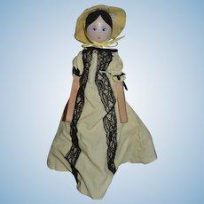 Vintage Doll Dryad Wood English Carved Doll