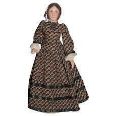 Old Cherrie Historical Portrait Dolls Louisa May Alcott Signed By Josephine Aldrich Harris