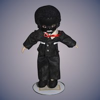 Vintage Doll Black Doll Golliwog Artist Doll Oil Cloth Character
