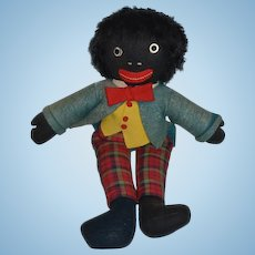 Old Doll Black Cloth Doll Golliwog Unusual