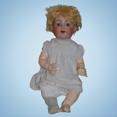 "Antique Doll Bisque Baby Wobble Tongue Kammer & Reinhardt Simon and Halbig 26"" TALL BIG"