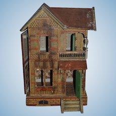Old Doll Gottschalk Dollhouse Miniature Litho & Wood