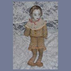 Old Cloth Doll Rag Doll Oil Cloth Stockinette Unusual