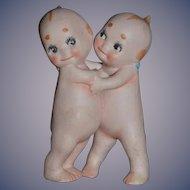 Vintage Doll Kewpie Huggers Bisque Rose O'Neill