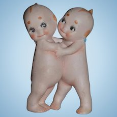 Vintage Doll Kewpie Huggers Bisque Rose O'Neill