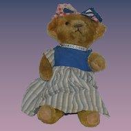 Vintage Teddy Bear Jointed Mohair CUTE FACE!!! Doll Friend