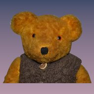 Old Teddy Bear Jointed Golden Brown Teddy Bear Doll Friend