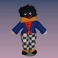 Wonderful MAW Originals Black Cloth Doll Golliwog W/ Original Tag