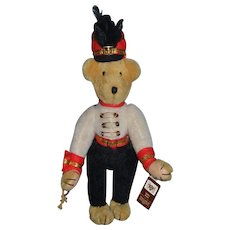 Vintage Teddy Bear Dee Hockenberry Jointed Signed Nisbet Marching Band