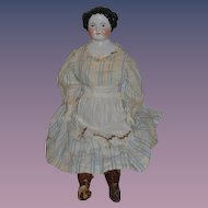 Antique Doll China Head LARGE Flat Top Center Part