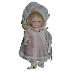 Wonderful Doll Artist Doll Signed Toddler Miniature Cabinet Size Character
