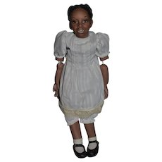 """Wonderful Doll Artist Doll Black Signed Amy Jointed Character Child Jane Bradbury """"The Lincoln Family"""""""