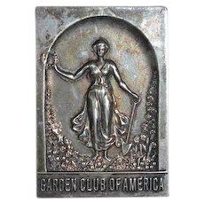 Wonderful Unusual Miniature Garden Club Of America Princeton Minis Dollhouse Medallion Ornate Silver Princeton Minis Philadelphia