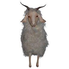 WONDERFUL RARE Artist Made Life Size Goat Glass Eyes Porcelain Human Hair Eyelashes Shirley Heyn Doll Friend