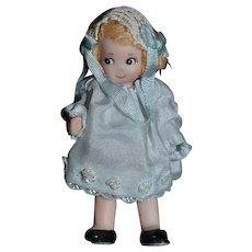 Vintage Doll Artist Doll Cathy Hansen Tiny Miniature Dollhouse Character TOO CUTE!