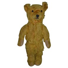 Old Teddy Bear Mohair Jointed Button Eyes Charming!