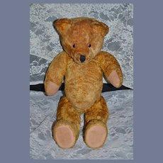 Old Teddy Bear Mohair Smiling Bear Jointed Big Flat Feet!