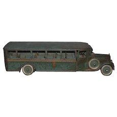 1920'S Rare Antique Buddy L Passenger Bus All Original