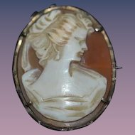 Old Shell Cameo Pendant Necklace Brooch For your Doll