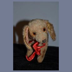 Old Doll Toy Mohair Dog Floppy Ears Jointed Head
