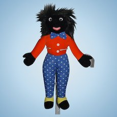 Vintage Merrythought Golliwog English Doll w/ Tags! Black Cloth Doll