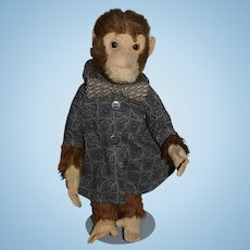 Old Doll Toy Mohair YES NO Monkey Mechanical Dressed CUTE!