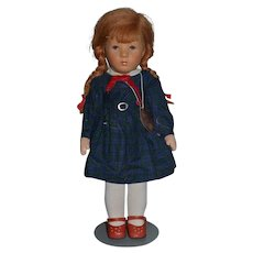 Vintage Doll Kathe Kruse Red Head w/ Original Tag