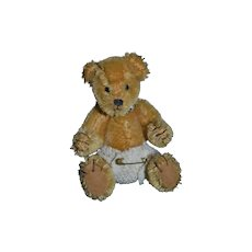 Vintage Miniature Teddy Bear HALF PINT By Elva Mohair Jointed MINIATURE Dollhouse # 10