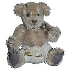 Wonderful Miniature Teddy Bear Artist Jointed BY ELVA Mohair  Dollhouse Doll Toy
