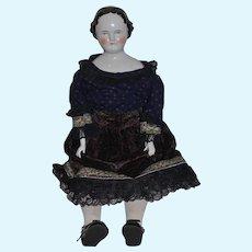 "Antique Doll China Head Flat Top Center Part HUGE Kestner 29"" TALL"