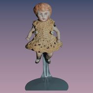 Antique Doll Miniature Bent Knee All bisque Jointed