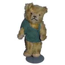 Old Teddy Bear Button Eyes long Snout Jointed Mohair