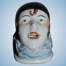 Antique Doll Half Doll Jester Clown Unusual Miniature