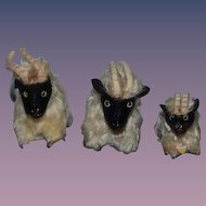 Vintage Steiff Billy Goat Set Three Snucki Small Size THREE Goats!